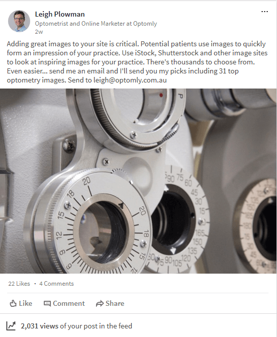 Optometry Social Media Post goes Wild!